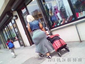 Candid bbw booty shopping